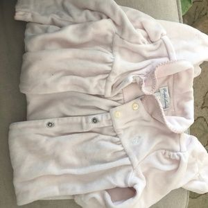 Adorable cozy pink footed onesie Ralph Lauren